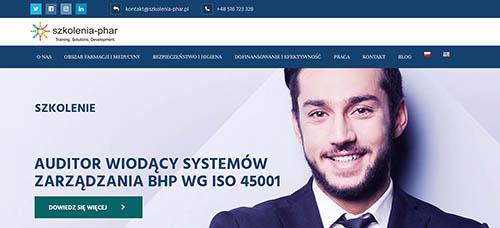 strona internetowa szkolenia-phar